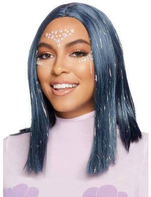 Concave Women's Midnight Blue Tinsel Highlight Costume Wig