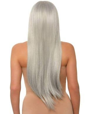 Long Straight 83cm Grey Deluxe Women's Costume Wig