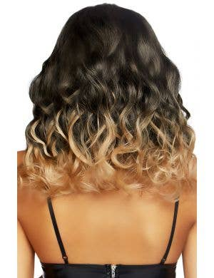 Curly Brown Ombre Women's Deluxe Costume Wig