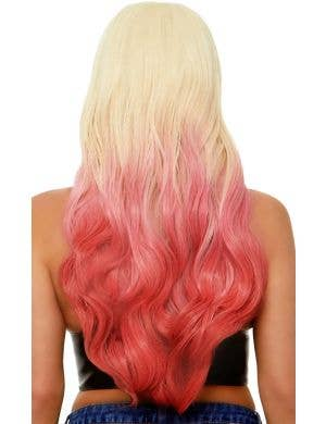 Beachy Waves Blonde and Pink Ombre Women's Wig