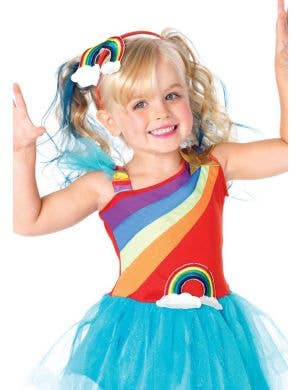 Rainbow Doll Girls Fancy Dress Costume