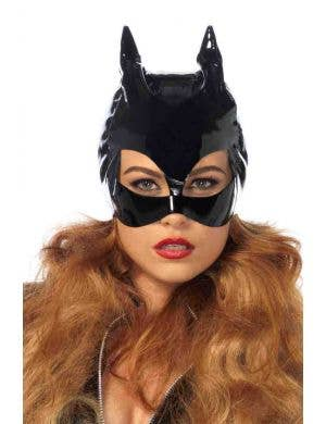 Catwoman Sexy Black Vinyl Face Mask