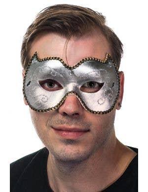 Unisex Vinyl Masquerade Mask In Silver