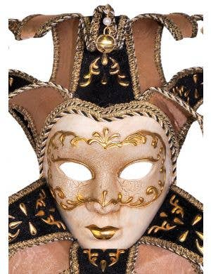 Deluxe Full Face Venetian Cream Medusa Mask
