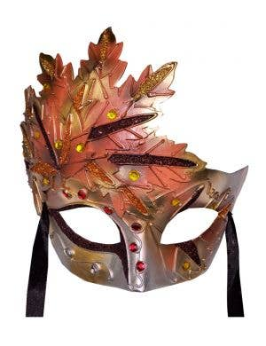 Autumn Leaf Terracotta Venetian Mask
