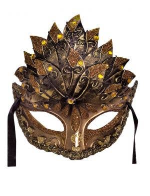 Centurian Men's Copper & Bronze Masquerade Mask