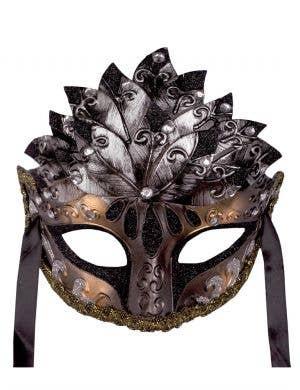 Roman Centre Overlay Men's Gold & Silver Venetian Mask