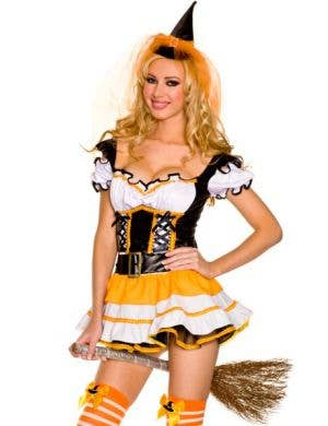 Orange Witch Sexy Women's Halloween Costume