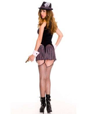 Pin Stripe Gangster Sexy Women's Costume