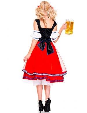 Oktoberfest Red Beer Girl Deluxe Women's Costume