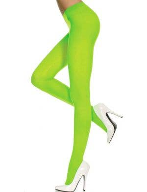 Opaque Neon Green Women's Pantyhose