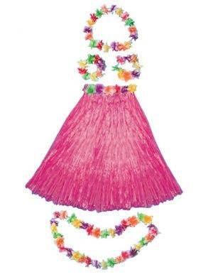 Aloha Hawaiian Women's Pink Costume Set