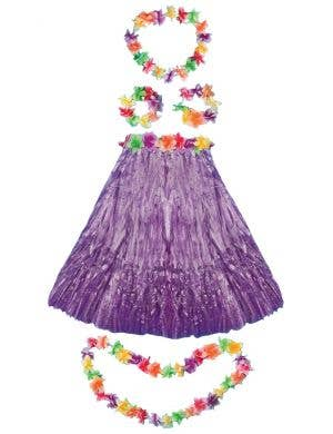 Aloha Hawaiian Women's Purple Costume Set