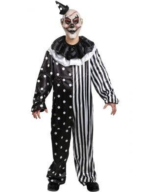 Killjoy Clown Men's Black and White Sinister Circus Costume