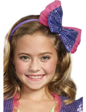 Dance Craze Youtuber Purple Sequin Bow Girls Headband