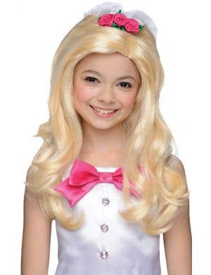 Barbie Bride Girl's Blonde Wig with Veil