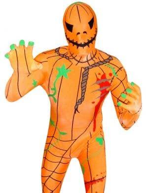 Evil Pumpkin Morphsuit Men's Halloween Costume