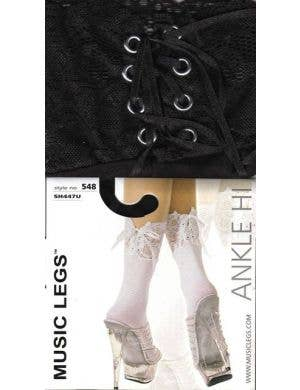 Ankle High Socks with Lace Up Backs - Colour Choice