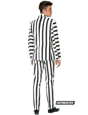 Suitmeister Black and White Striped Men's Novelty Suit