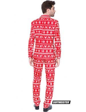 Suitmeister Red Nordic Christmas Print Men's Novelty Suit