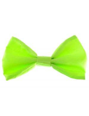 Satin Neon Green Bow Tie Costume Accessory