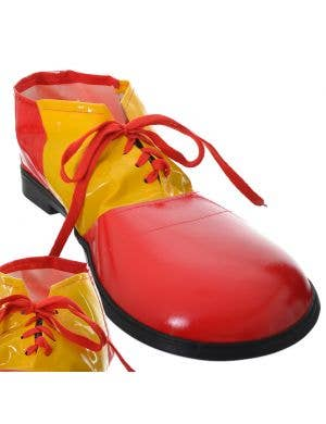 Clown Yellow and Red Adults Costume Shoes