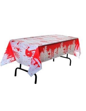 Blood Splattered Plastic Halloween Table Cover