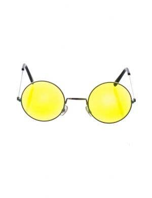Flower Power Yellow Hippie Glasses Costume Accessory
