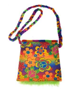 Flower Power 1970's Shoulder Bag Costume Accessory