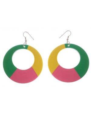 1980's Retro Multi-colour Costume Accessory Earrings