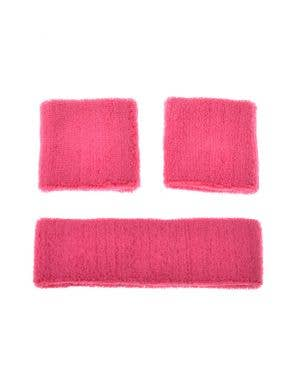 1980's Sport Pink Sweatbands Accessories