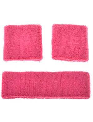 1980's Sport Pink Sweatbands Accessories