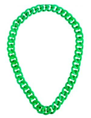 Neon Green 1980's Party Neck Chain Costume Accessory