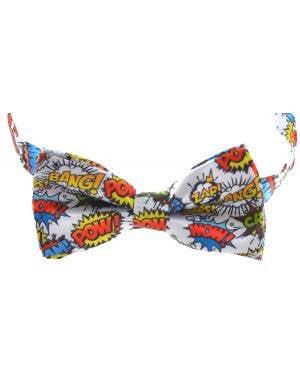 Pop Art Cartoon Bow Tie Costume Accessory