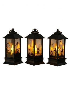 Mini 12cm Light Up Zombie and Graveyard Lantern Halloween Prop