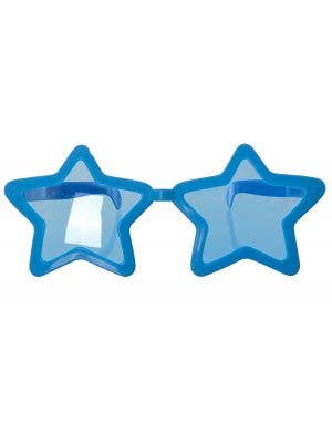 Jumbo Novelty Blue Star Sunglasses Costume Accessory