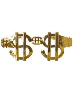 Dollar Sign Giant Gold Novelty Costume Sunglasses