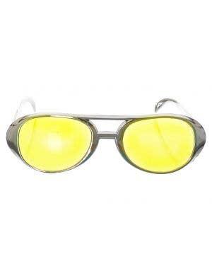 Aviator Style Silver Sunglasses Costume Accessory
