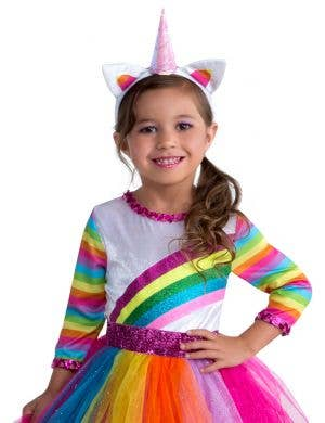 Dashing Unicorn Toddler Girls Fancy Dress Costume
