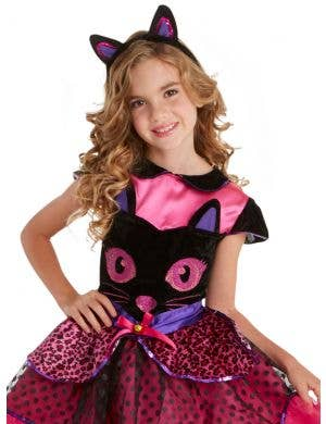 Cute Pink Cat Girls Halloween Costume