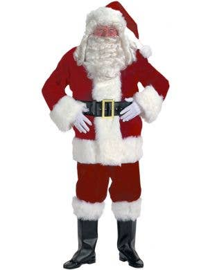 Jolly Deluxe Plus Size Santa Suit Men's Christmas Costume