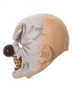 Scary Clown Full Head Deluxe Rubber Halloween Mask