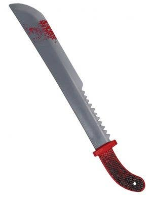 Long Bloody Machete Realistic Look Costume Weapon