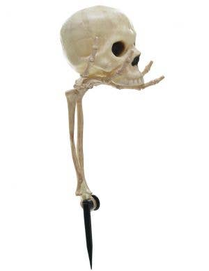 Skeleton Head in Hand Garden Stake Halloween Decoration