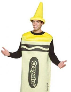 Crayola Adults Novelty Yellow Crayon Costume