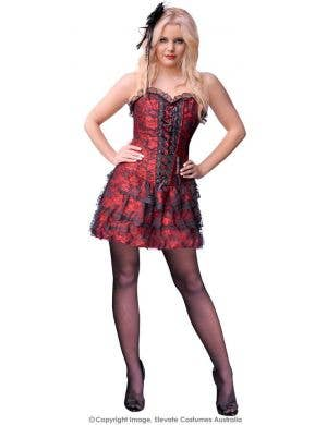 Spanish Skirted Women's Sexy Red Corset