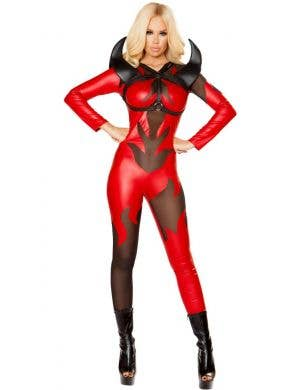 Fired Up Red Devil Sexy Women's Halloween Costume