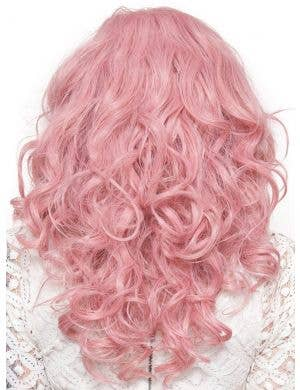 "Lace Front 22"" Curly Milkshake Pink Women's Fashion Wig"