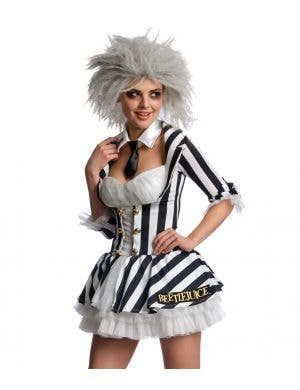 Miss Beetlejuice Sexy Women's Halloween Costume