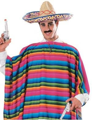 Mexican Poncho Costume with Sombrero